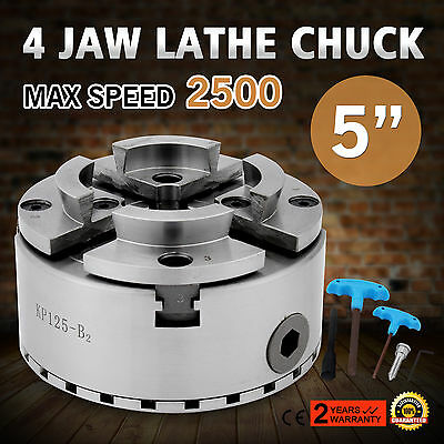 4 Four Jaw 125mm Self Centering Lathe Chuck M33 Scroll Metal Mount Turning Wood