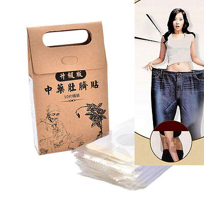 10x Weight Loss Diet Patch Slimming Trim Patches Burn Fast Fat Detox Sheets Slim