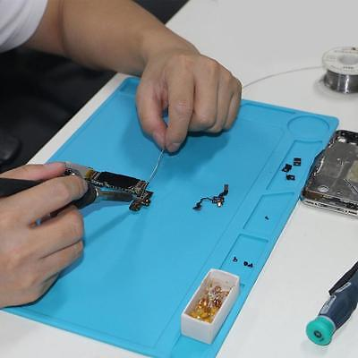 35 x 25cm 500℃ Heat Insulation Silicone Pad w/ Scale Desk Soldering Station Mat