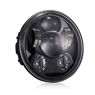 """5-3/4"""" Motorcycle Black Projector Daymaker LED Headlight For Harley"""