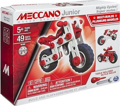 NEW Meccano Junior Motorcycle - 3 Model from Mr Toys