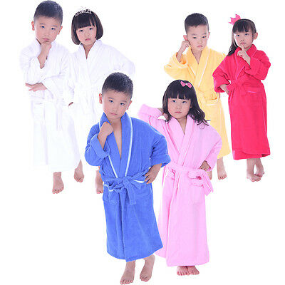 Personalized 100% Cotton Children Bath Terry Robe Embroidery Name Gift Housecoat