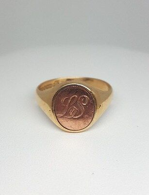 9ct Yellow and Rose Gold Masonic Ring (1098)