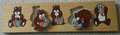 Childrens Teddy Bear Shape Sorter  / Learnjng Puzzle
