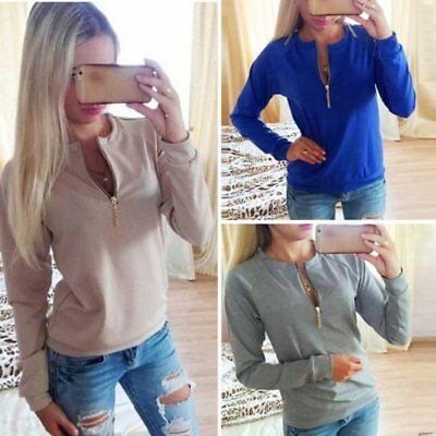 Women Lady V-Neck Long Sleeve Hoodie Sweater Womens Winter Jumper Pullover Tops