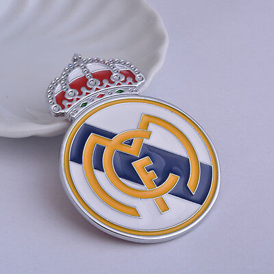 2pcs 3D Car Sticker Alloy Real Madrid CF Football Team Logo Auto Cover Decal