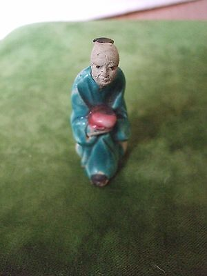 Antique/Vintage Chinese Miniature Clay/Mud Man Figure