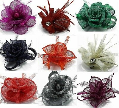 Small Flowers Hair Fascinator Clip & Brooch Pin Clearance