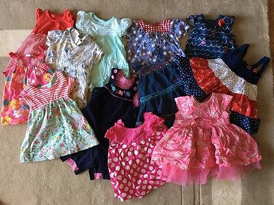 Girls 3-6 Months Clothing Bundle Summer Dresses 12 Pieces