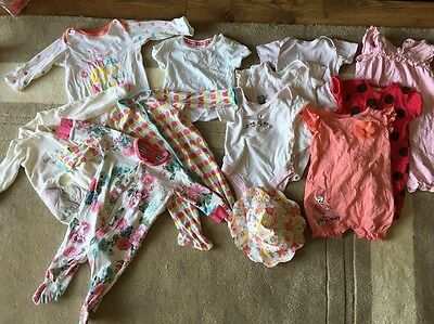Girls 3-6 Months Clothing Bundle 12 Pieces