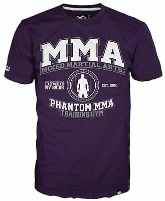 "Phantom MMA ""Vegas Gym"" T-Shirt -Purple, Herren Shirt"