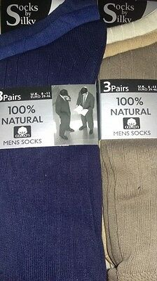 JobLot 24 Pairs Mens 100% Cotton Natural Socks Size 6-11 Wholesale Clearance