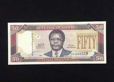 Liberia UNC 50 Dollars 2011 Banknote World Currency Paper Money