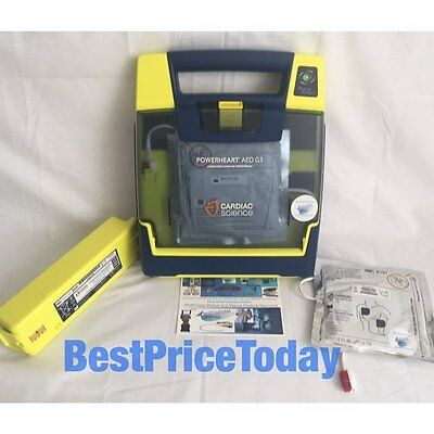 CARDIAC SCIENCE POWERHEART G3 AED PADS 9300E-502 UK Automated Defib + Battery