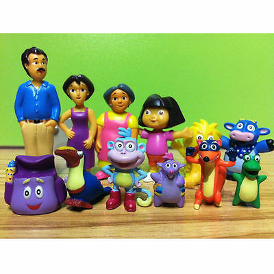 NEW Dora The Explorer Figure Set Toy Playset/Cake Topper Figurines of 12 pcs