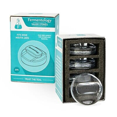Sauer Stones - Large Glass Fermentation Weights for Wide Mouth Mason Jars