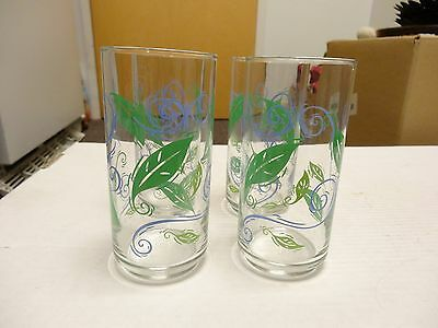 Corelle Coordinates SPEARMINT glass  tumblers  weighted set of 4