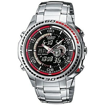 Casio Edifice Men's Watch EFA-121D-1AVEF Stainless Steel Water Resistant NEW