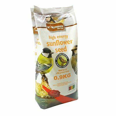 Kingfisher Sunflower Hearts-Wild Bird Food Feeding Seeds Feed All Season 0.9KG