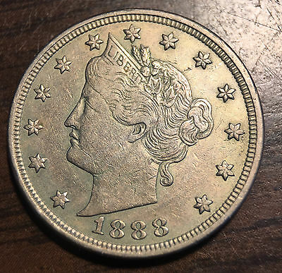 1888 Liberty Head V 5C Nickel