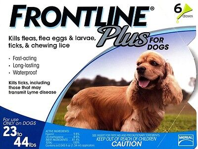 Frontline Plus Flea, Tick, and Lice Control 6 Month Supply for Dogs