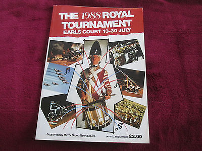 The 1988 Royal Tournament Earls Court  Official Programme. Tattoo
