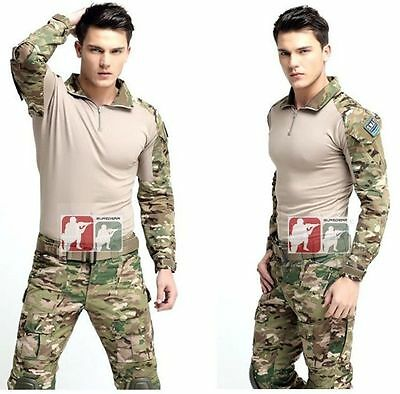Tactical Military .Custom Army G3 Gen3 Combat Shirt Uniform Airsoft Frog BDU Men