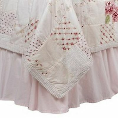 Simply Shabby Chic * Pink * Full Double * Bed Skirt * Dust Ruffle