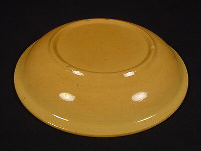 RARE 1800s HIGH RIM DEEP DISH PLATE SERVER YELLOW WARE MINT