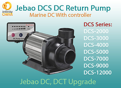 Jecod (Jebao) DCS Series (2000-12000) Marine DC Return Pump, DCT Series Upgrade