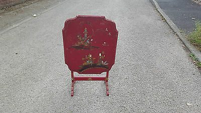 Vintage Chinoiserie Screen Table £15 Uk Mainland Postage