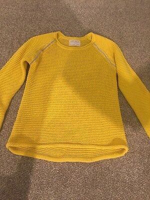 Zara Girls Mustard Jumper Age 8