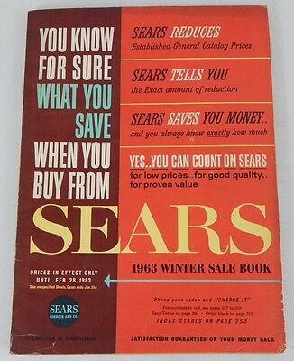 Vintage Sears Catalog Fall Winter 1963 - 1644 Pages RARE Magazine Style Book
