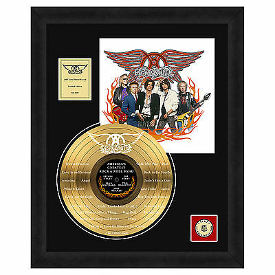 Aerosmith Collectible: America's Greatest Rock & Roll Band Framed LP Gold Record