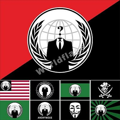 Anonymous Flag 3X5FT Occupy Anti Government Protest Anon Guy Fawkes Vendetta