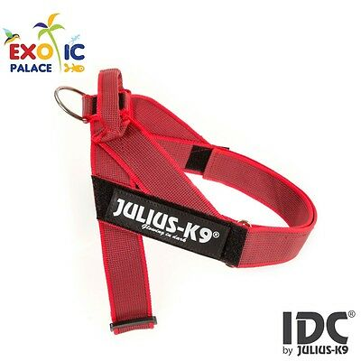 Julius-K9 Idc Belt Harness New Red Gray Pettorina Per Cane In Nylon Resistente