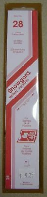 Showgard size 28 Clear hingeless stamp mount NEW unopened pack 1st quality 215mm