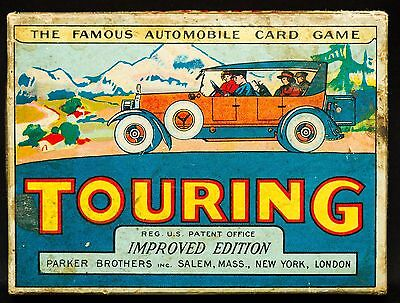 Antique 1926 Parker Brothers~Touring Card Game~Great Graphics~