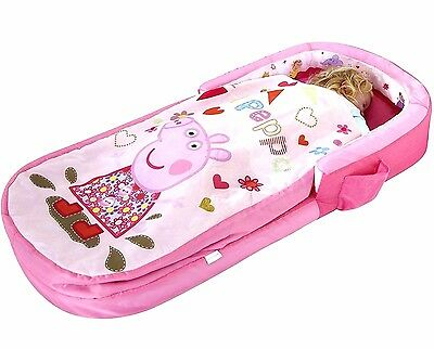 Girls Baby Travel Air Bed Toddler Portable Cot Sleeping Bag Kids Home Camping