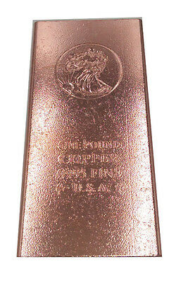 1 pound copper Rustic Bar .999 Fine Copper Walking liberty defects