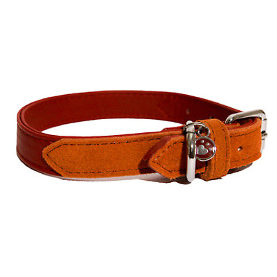 Rosewood Luxury Leather Designer Soft Touch Red Dog Collars Leads  Size Choice