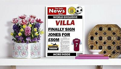 Personalised Unofficial Aston Villa Birthday Card