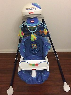 Musical Fisherprice Baby Swing battery operated with light aquarium