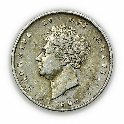 Great Britain KM#694 1826 Shilling, Small Coin, George IV [3127.39]