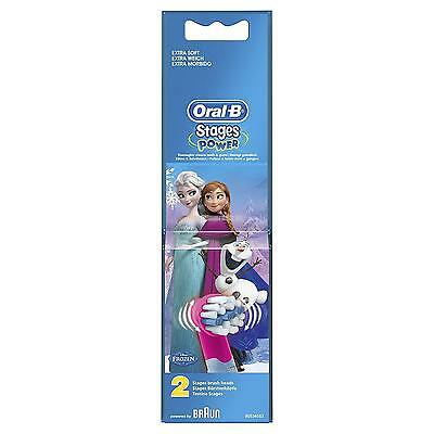 Oral-B Kids Frozen Stages Power Replacement Toothbrush Brush Heads – 2 Pack