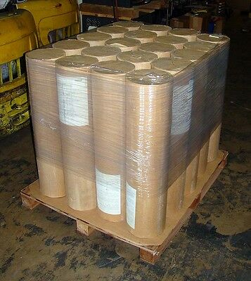"""LOT of 10 TEN Rolls Kraft Paper 40 pound Weight 1225 ft Lgth 36"""" W Natural Color"""