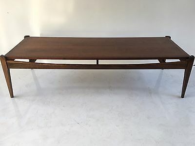 Mid Century Walnut Coffee Table By Bassett