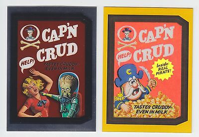 Wacky Packages Chrome Cap'n Crud Crunch MARS ATTACKS Altered Art & GOLD LUDLOW