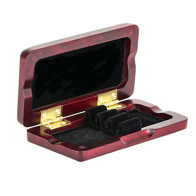 Oboe Reeds Case Maple Storage Box for 3 Pcs Reeds Rosewood Color Musical Parts