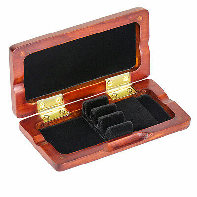 Oboe Reeds Case Maple Storage Box for 3 Pcs Reeds Amber Color Musical Parts